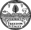 Vermont State seal.