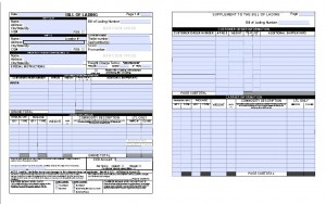 Shipping bill of lading.