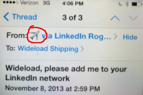 Email image icon on the senders from line.