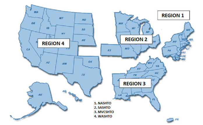 USA MULTI-STATE PERMITS AND REGIONS.